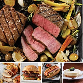 Omaha Steaks Classic Combo Pack (20-Piece with Top Sirloins, Steak Burgers, Jumbo Franks, and Individual New York Cheesecakes)