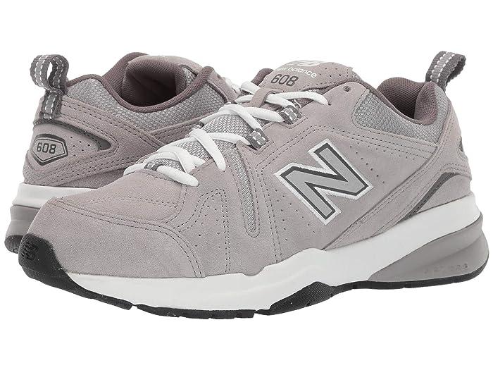 New Balance  608v5 (Grey Suede/Grey Suede) Mens Cross Training Shoes