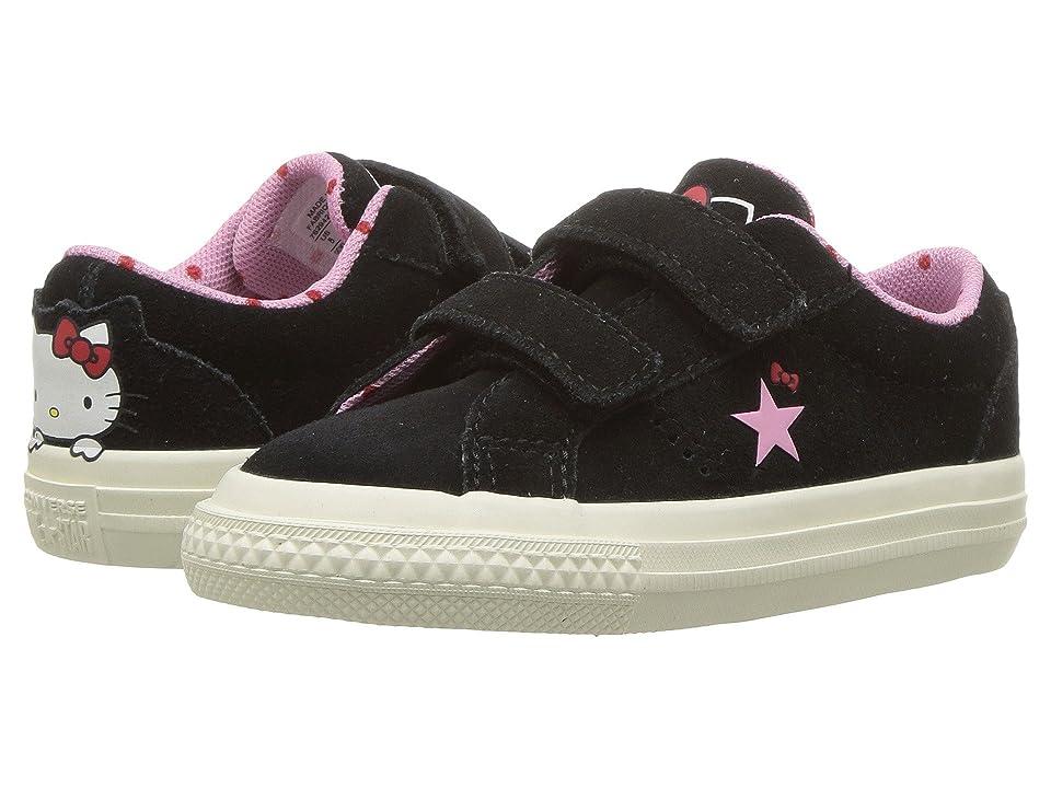 Converse Kids Hello Kitty(r) One Star 2V Ox (Infant/Toddler) (Black) Girl