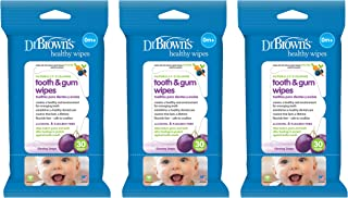 Dr. Brown's Tooth and Gum Wipes, 30 Count, 3-Pack