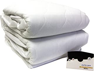 Biddeford 5203-505222-100 Quilted Skirt Electric Heated Mattress Pad, King, Natural