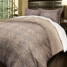 Blue Ridge Home Fashions Microfiber Oversize King in Leopard Color Duvet Cover Set