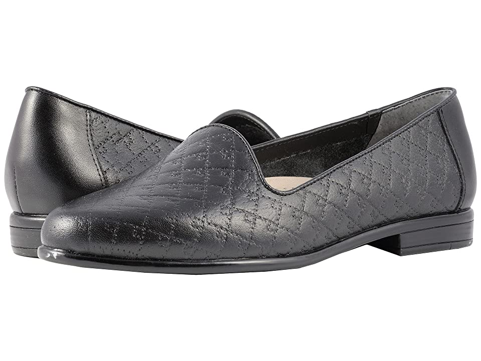 Trotters Liz (Black Quilted Embossed) Women