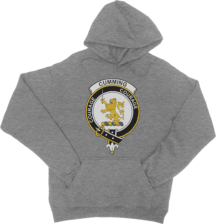 HARD EDGE DESIGN Men's Scottish Clan Crest Badge Cumming Sweatshirt
