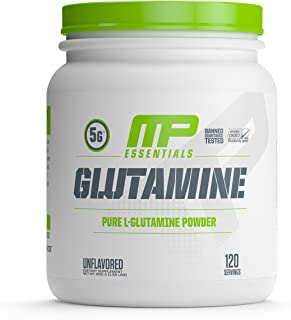 MusclePharm Essentials Glutamine Powder, Pure L-Glutamine, 120 Servings