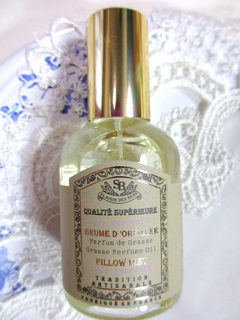 変化するスパークびんSenteur et Beaute(サンタールエボーテ) French classic(フレンチクラシックシリーズ) ピローミスト 50ml 「リリーガーデニア」 4994228024367