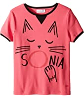 Sonia Rykiel Kids - Short Sleeve Cat Graphic T-Shirt (Big Kids)