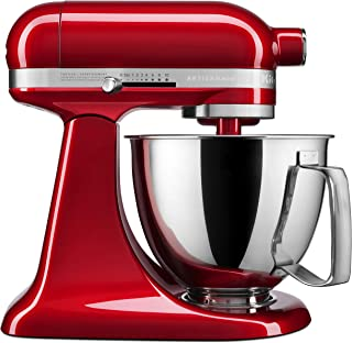 KitchenAid KSM3316XCA Artisan Mini Stand Mixers 3.5 quart Candy Apple Red (Renewed)