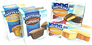 Tastykake Snack Cakes Philadelphia Favorites Pack | 4 Boxes | Butterscotch Krimpets, Peanut Butter Kandy Kakes, Chocolate Cupcakes, Cream Filled Koffee Cupcakes
