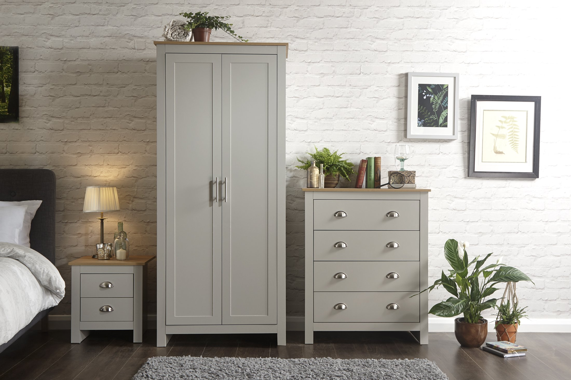 grey oak bedroom furniture amazon co uk rh amazon co uk