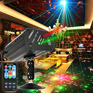 Party lights, Disco Lights DJ Lights GOOLIGHT Sound Activated Strobe Light Projector Stage Light Effects with Remote Contr...