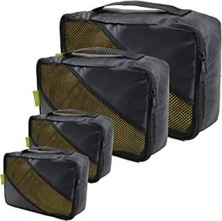 Suitcase Organizers for Travel Packing Lightweight Durable Packing Cubes Set of 4 Ripstop Nylon Expandable Travel Accessor...