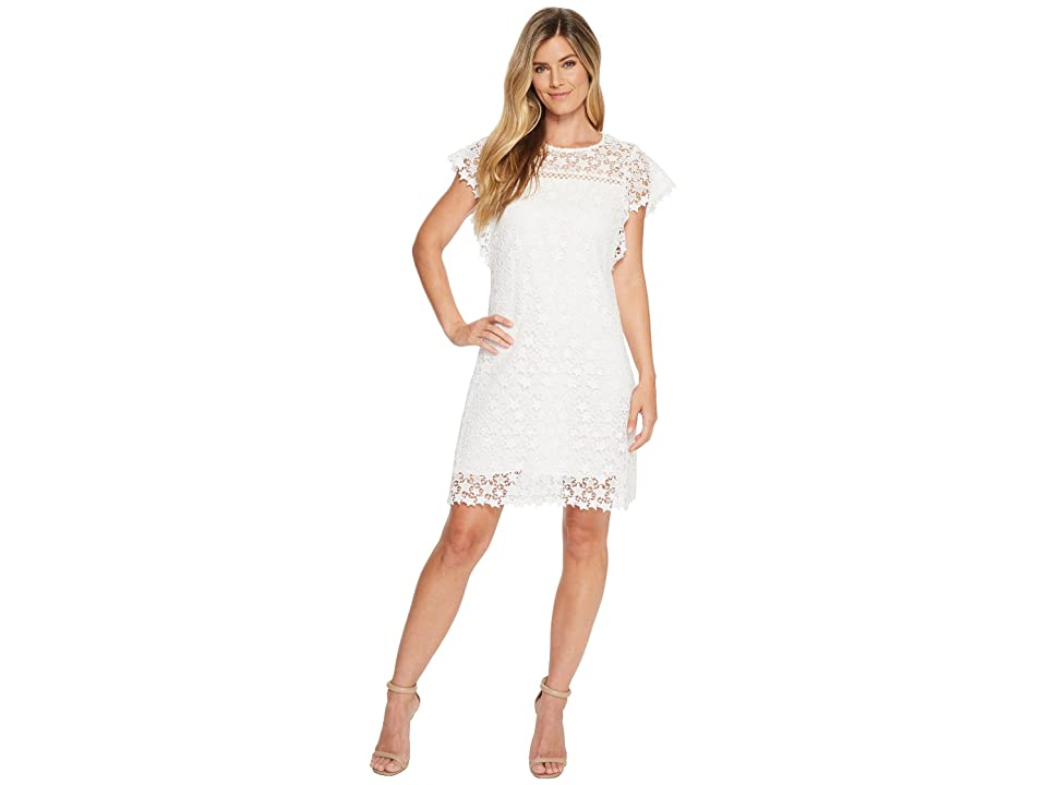 Hale Bob Star Light Star Bright Lace Star Dress (White) Women