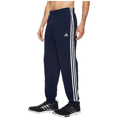 adidas Essentials 3S Tapered Cuffed Pants (Collegiate Navy/White) Men