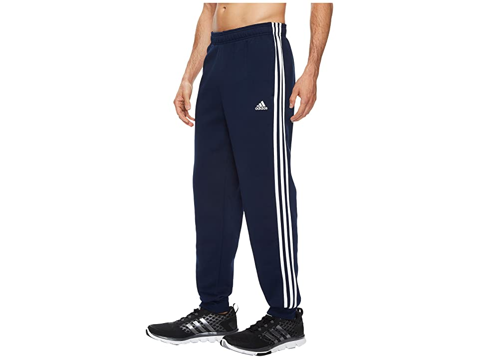 adidas Essentials 3S Tapered Cuffed Pants (Collegiate Navy/White) Men