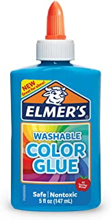 Elmer's Colour Glue | Blue | 147 ml | Washable | Great for Making Slime | 1 Count