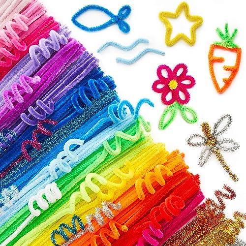 Arteza Cure-pipes multicolores paillettes | 650 tiges chenilles loisirs créatifs flexibles | Bricolage enfant adulte ...