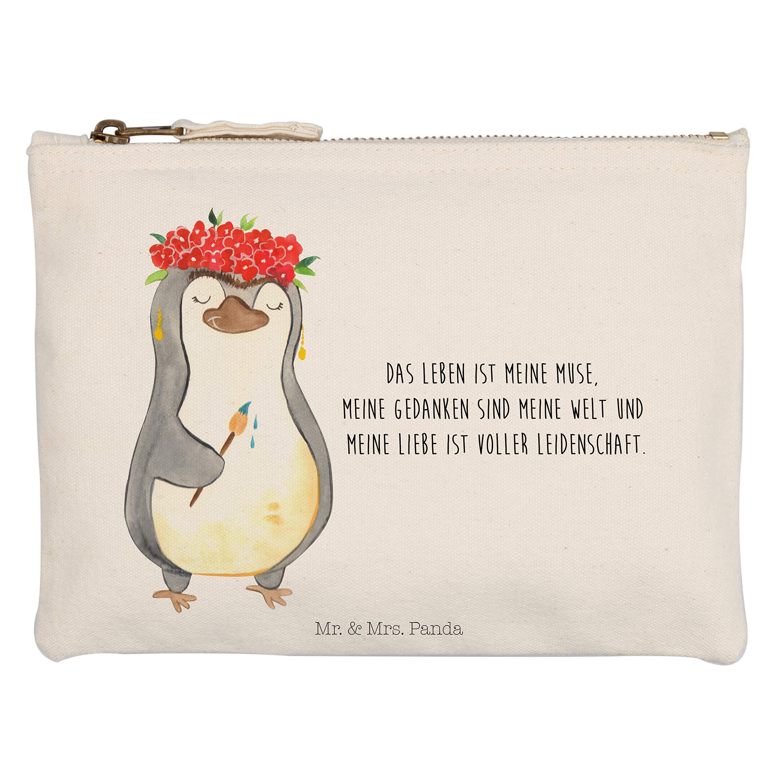 Mr. & Mrs. Panda L Maquillaje Pingüino Frida Kahlo – 100% Handmade – Frida Kahlo, pintora, Star, Pingüino, Pintores, Frida, Kahlo, México, autorrealización, vorbild Maquillaje, Neceser, Neceser, LandLeder, funda, estuche, maquillaje, XXL: