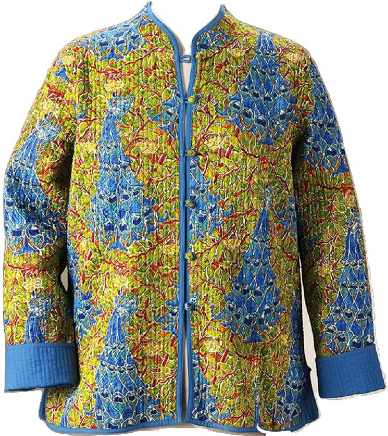 Smithsonian Reversible Peacock Quilted Jacket