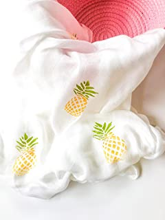 HANDMADE White Baby Cellular Cotton Blankets-Pink,White,Pale Yellow /&Blue Satin
