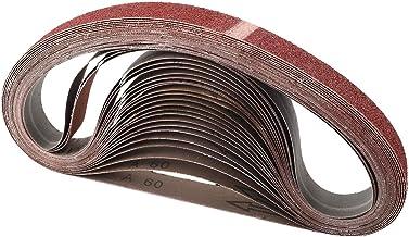 "1//2/"" x 24/"" 800 Grit Aluminum Oxide Metal /& Wood Sanding Belts .5/"" Inch 20 PACK"