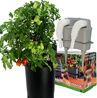 Plant Hydrator [All New Automatic Daily Drip Waterer to Beat This Summer's Heat Container Garden Organic Vegetables Confidently [Fits Grow Bags Self Watering Planters]