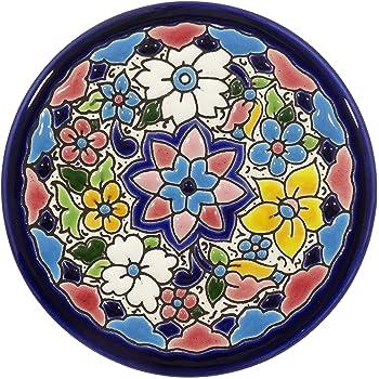 Platos Decorativos para Pared, Pintados a Mano con la técnica de la Cuerda Seca. Cerámica Andaluza. 9 CM.50903: Amazon.es: Hogar