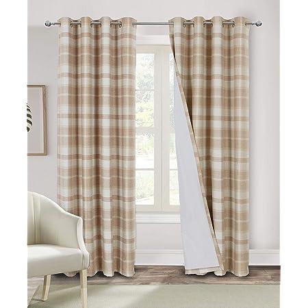 Plaid Curtains for Bedroom Living Room Blackout Tartan Grommet ...