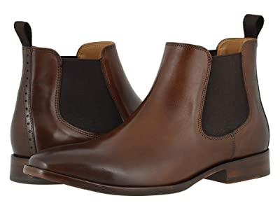 Johnston & Murphy McClain Chelsea Boot (Dark Tan Full Grain) Men
