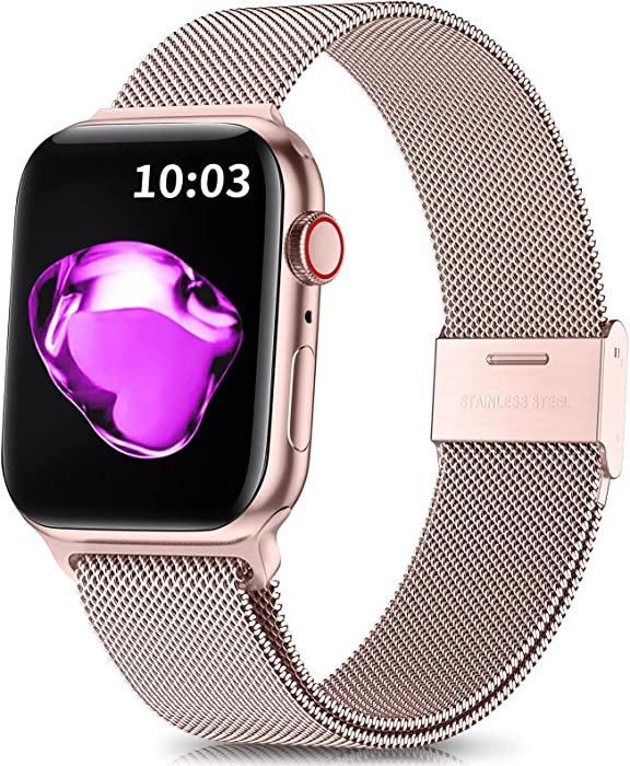 Updated 2021 – Top 10 Rose Gold Mesh Apple Watch Band 38