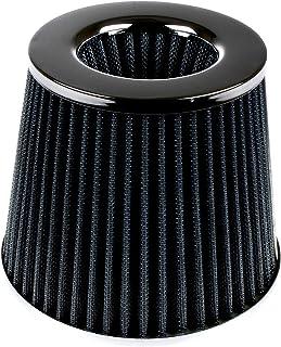 Filtro de aire universal para coche, alta potencia, filtro cónico de entrada de aire fabricado en malla deportiva para coche, carreras de automovilismo
