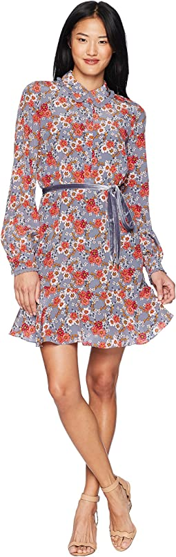 Larchmont Blooms Silk Shirtdress