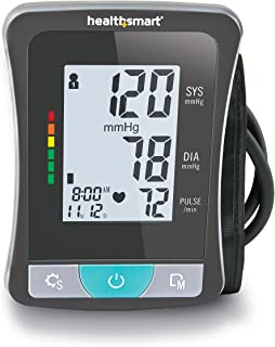 Blood Pressure Monitor for Upper Arm with Clinically Accurate Talking LCD Screen and includes Standard Size Cuff, Black