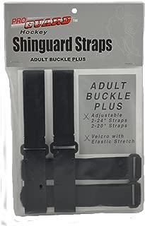 Proguard Senior Buckle Plus Shin Guard Strap, Black