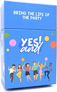Yes and Improv Comedy Card Game