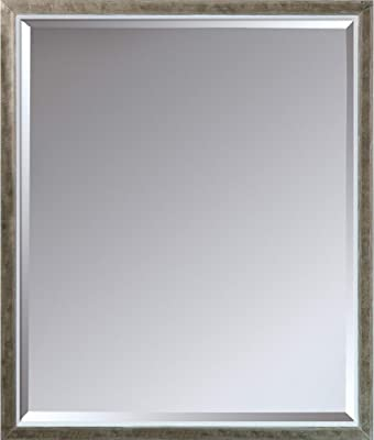 "La Pastiche Silhouette Mirror, 26.5"" x 22.5"", Champagne and White"