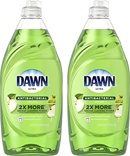 Dawn Antibacterial Ultra Liquid Hand Soap, Apple Blossom Scent, 19.4 Ounce (Pack of 2)