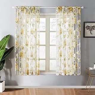Best short yellow curtains Reviews