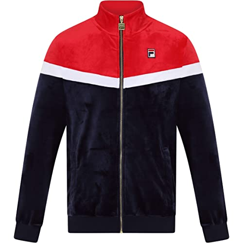 d4291d055ce Fila Vintage Harry Velour Track Jacket | Peacoat/Red/White