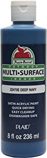 Apple Barrel Multi-Surface Paint in Assorted Colors (8 oz), 22470E Deep Navy