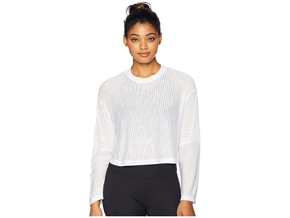Lorna Jane Layla Long Sleeve Top (White) Women's Clothing
