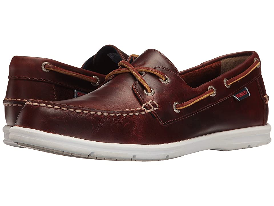 Sebago Litesides Two Eye (Brown Oiled Waxy Leather White Bottom) Men