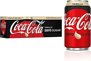 Coca-Cola, Zero Soda, Vanilla, 12 oz (pack of 12)