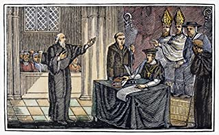 Hugh Latimer (1485-1555) Nenglish Religious Reformer Bishop Latimer Before A Catholic Tribunal During The Reign Of Mary I Wood Engraving From An 1832 American Edition Of John FoxeS Book Of Martyrs Pos