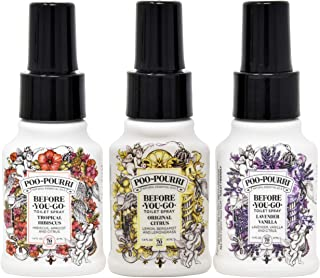 Poo-Pourri Original Citrus,Lavender Vanilla, and Tropical Hibiscus 1.4 Ounce Set