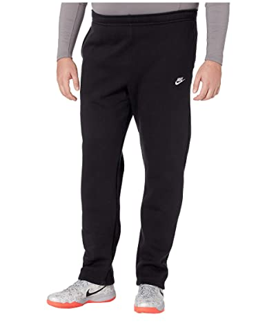 Nike Big Tall NSW Club Pants Open Hem (Black/Black/White) Men