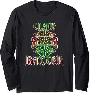 Baxter Scottish Clan Family Name Tartan Knot  Long Sleeve T-Shirt