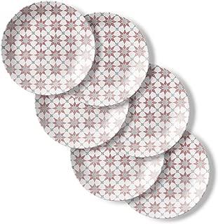 Corelle 6-Piece Chip Resistant Lunch Plates, 6-Piece, Amalfi Rosa