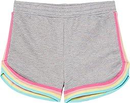 Grey Lori Shorts with Rainbow Trim (Little Kids/Big Kids)
