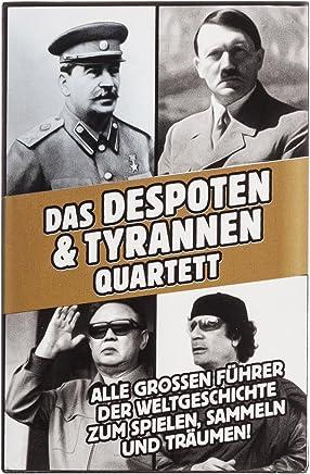 Tyrannen & Despoten Quartett - Das Diktatoren Kartenspiel die 32 übelsten Führer der Geschichte auf Spielkarten